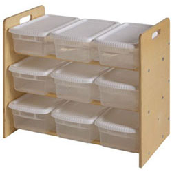 Little Colorado Natural Nine Bin Toy Organizer