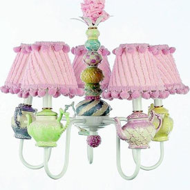Just Too Cute Tea Party Chandelier