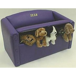 Solid Color Sofa Toy Box