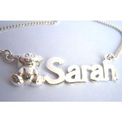 Name Bear Necklace