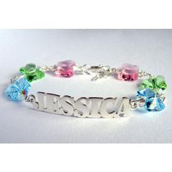 Butterfly Swarovski Crystal Name Bracelet