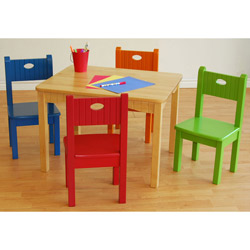 Activity Table and Four Chairs Set