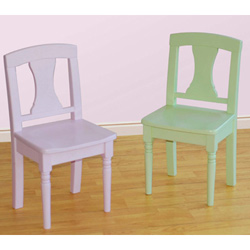 Pastel Game Set of Two Chairs