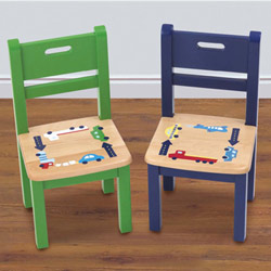 Traffic Jam Set of Two Chairs