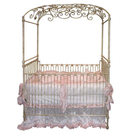 Ultimate Beauty Hand Forged Iron Baby Crib