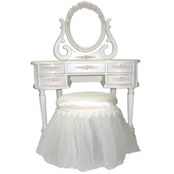 French Rose Vanity Table
