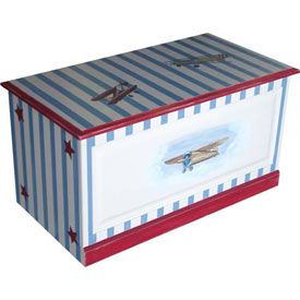 Vintage Airplane Handpainted Toybox