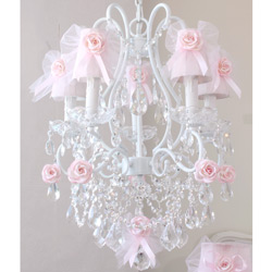 5 Arm Tulle Bow Chandelier