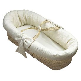 Baby Doll Waffle Pique Baby Moses Basket