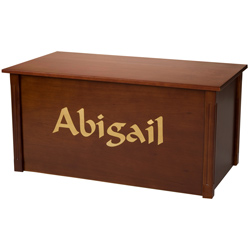 Personalized Cherry Toybox with Laser Engraved Letters