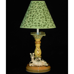 Lounging Zebra Table Lamp