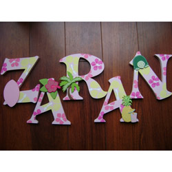 Tropical Wall Letters