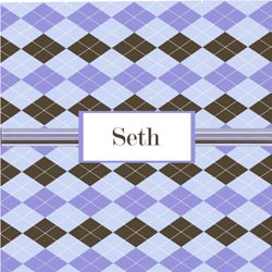 Argyle Personalized Boys Wall Art