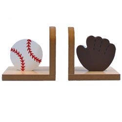 Baseball and Glove Bookends