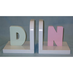 Pastel Initial Bookends