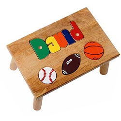 Personalized Sports Puzzle Stool