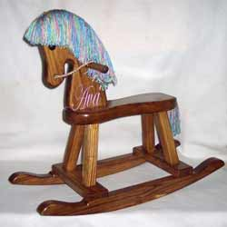 Cotton Candy Rocking Horse