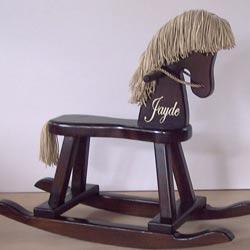 Personalized Espresso Rocking Horse
