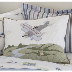 Adventure Quilted Airplane Sham