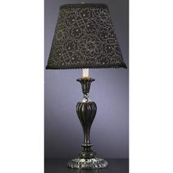 Black Lottis Blossum Lamp