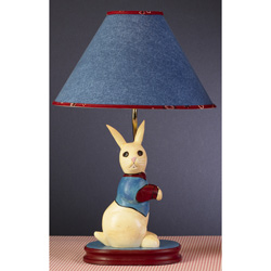 Denim Bunny Lamp