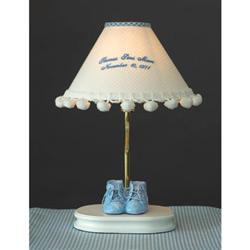 Monogrammed Baby Bootie Lamp