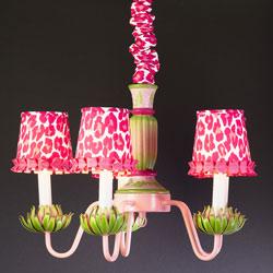 Pink Leopard Waterlily Chandelier