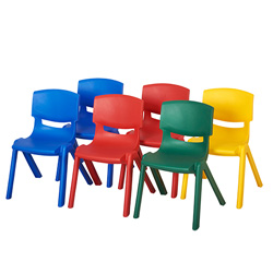 Resin School Stack Chairs Pack of 6
