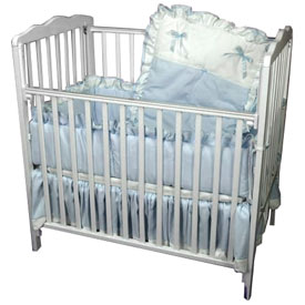 Pretty Pique Porta Crib Bedding