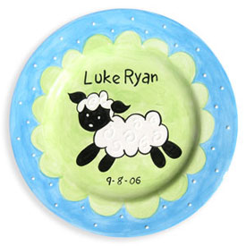 Little Lamb Birth Plate