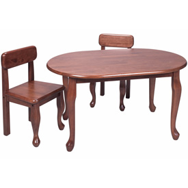 Queen Anne Oval Table and Chair Set