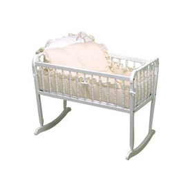 Pretty Pique Cradle Bedding Set