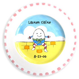 Humpty Dumpty Birth Plate