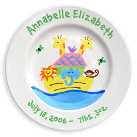 Noah's Ark Birth Plate