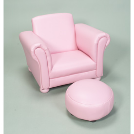Children's Upholstered Chair With Ottoman