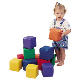 Set of 12 Toddler Baby Blocks