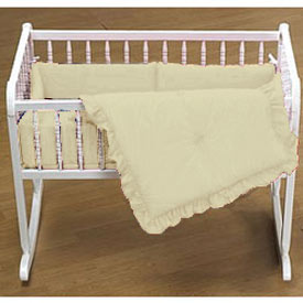 Solid Color Cradle Bedding Set