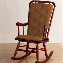 Ababy Heavenly Soft Adult Rocking Chair Cushion Color: Brown (Rocking Chair Cushion Only)