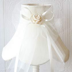Lamp Shade with Tulle Bow