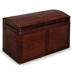 Hardwood Barrel Top Toy Chest