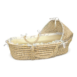 Gingham Hooded Moses Basket