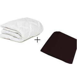 aBaby Porta Crib Mattress Protector and Sheet Combo Black