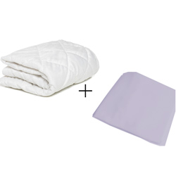 Crib Mattress Protector and Sheet Combo
