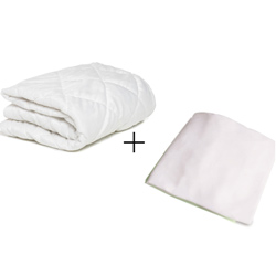 Porta Crib Mattress Protector  and Sheet Combo