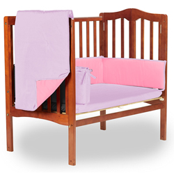 Reversible Portable Crib Bedding