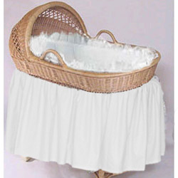 Neutral Beauty Bassinet Bedding