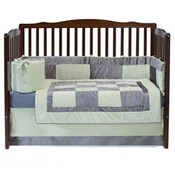 Crocodile Minky Crib Bedding Set