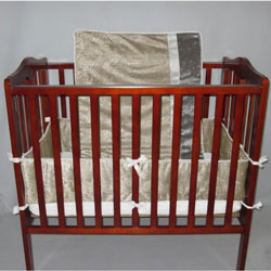 Velvet Crocodile Porta Crib Bedding