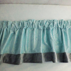 Velvet Crocodile Window Valance
