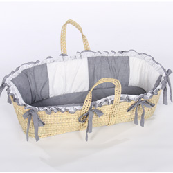 Gingham Eyelet Moses Basket Moses Baskets For Boys Ababy Com